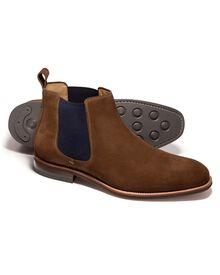 Ginger Edward suede Chelsea boots