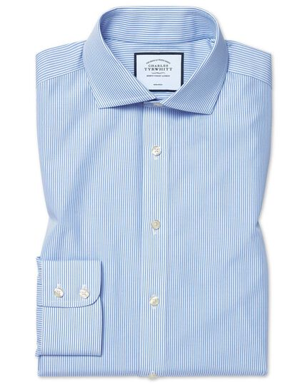 Extra slim fit cutaway collar non-iron bengal stripe sky blue shirt