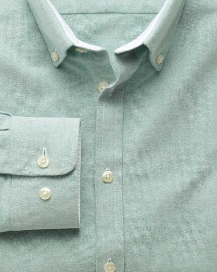 Extra slim fit green washed Oxford shirt