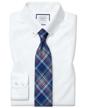 Classic fit button-down non-iron twill white shirt