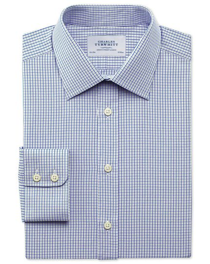 Classic fit micro gingham grey shirt