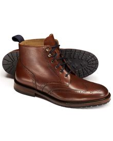 Brown Chesterton brogue boots