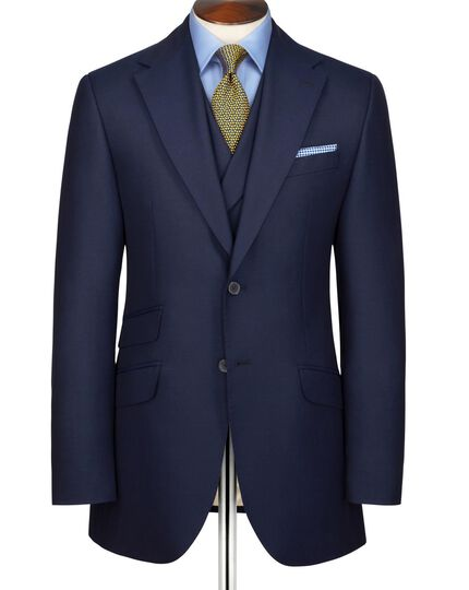 Navy slim fit British Panama luxury suit jacket