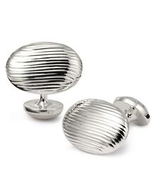 Textured oval cuff links
