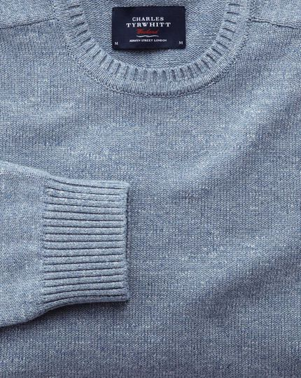 Sky blue heather crew neck sweater