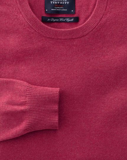 Coral cotton cashmere crew neck jumper