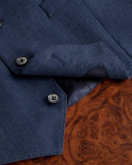 Blue saxony business suit waistcoat