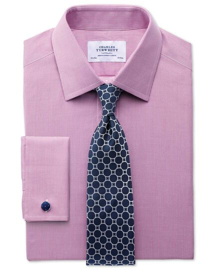 Slim fit Oxford magenta shirt
