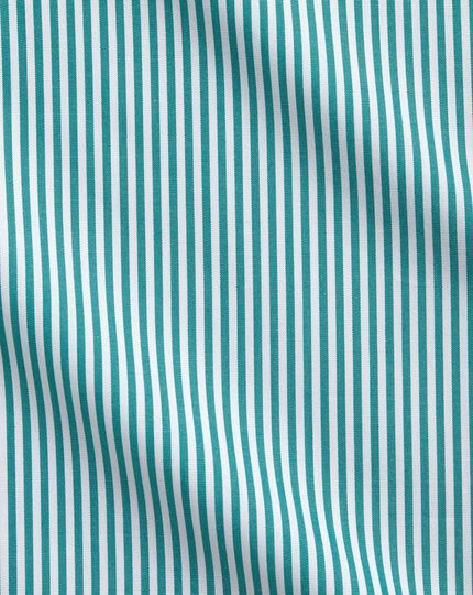 Slim fit Bengal stripe green shirt