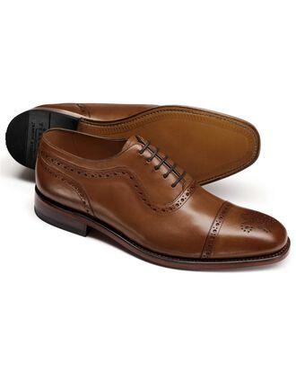 Brown Parker toe cap brogue Oxford shoes