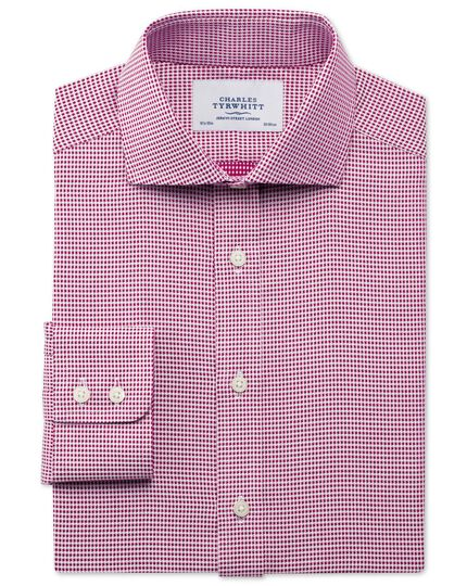 Classic fit spread collar star weave berry shirt
