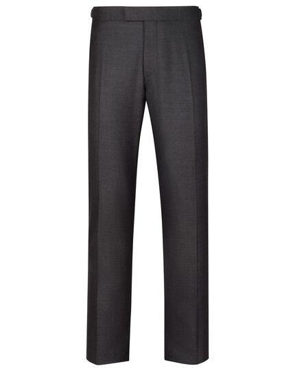 Charcoal slim fit Yorkshire worsted luxury suit pants