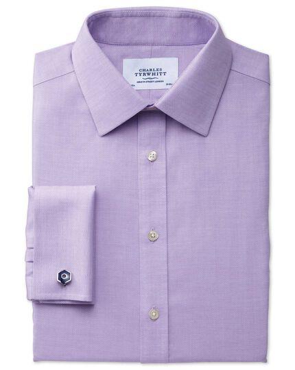 Classic fit non-iron micro spot lilac shirt