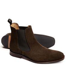 Brown Montagu suede Chelsea boots