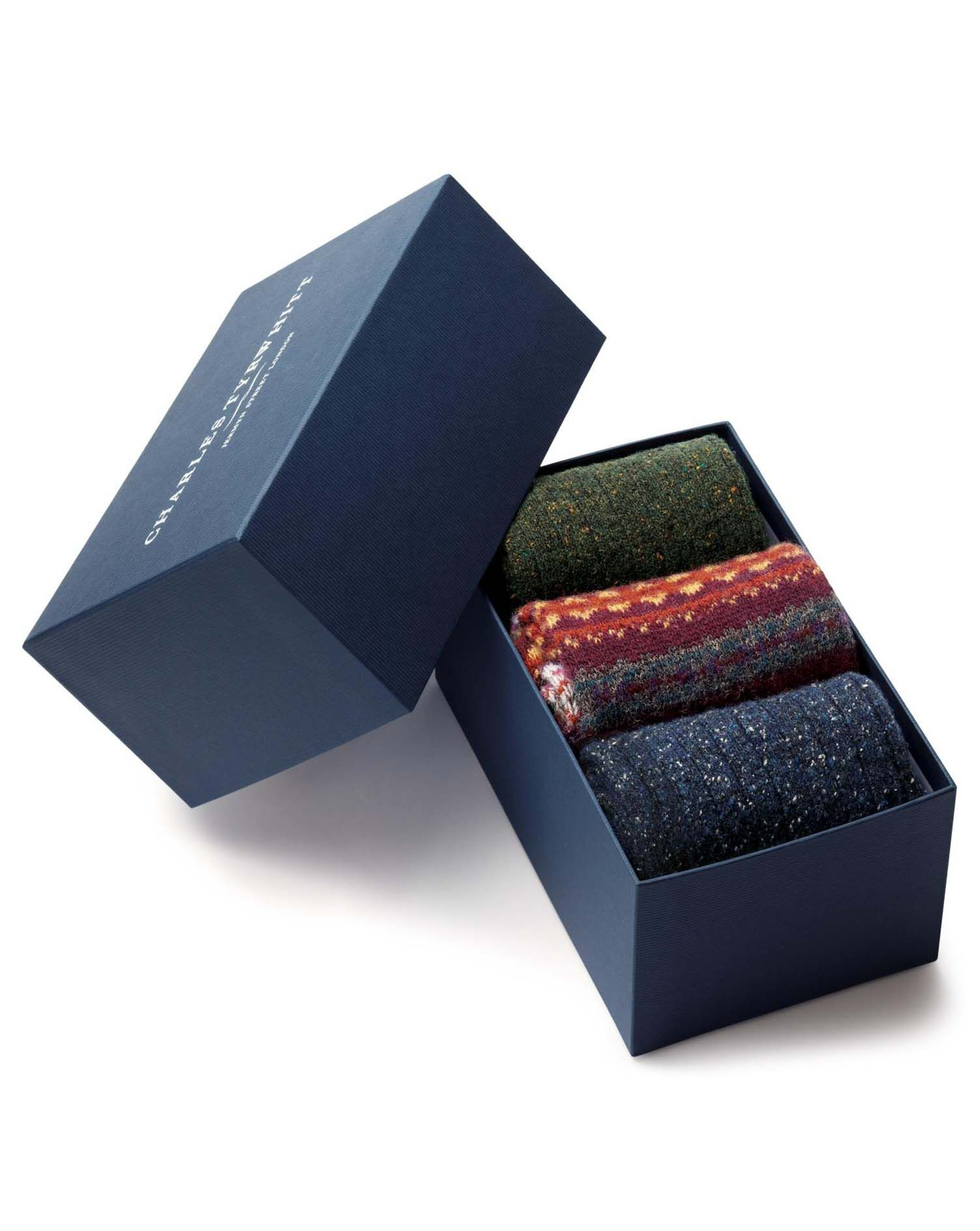 Chunky Winter Sock Gift Box Size Large by Charles Tyrwhitt