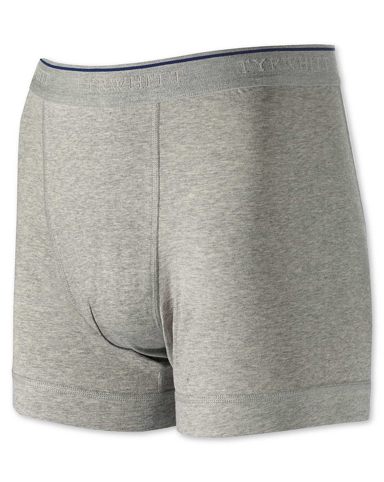 Grey Jersey Trunks Size XXL by Charles Tyrwhitt