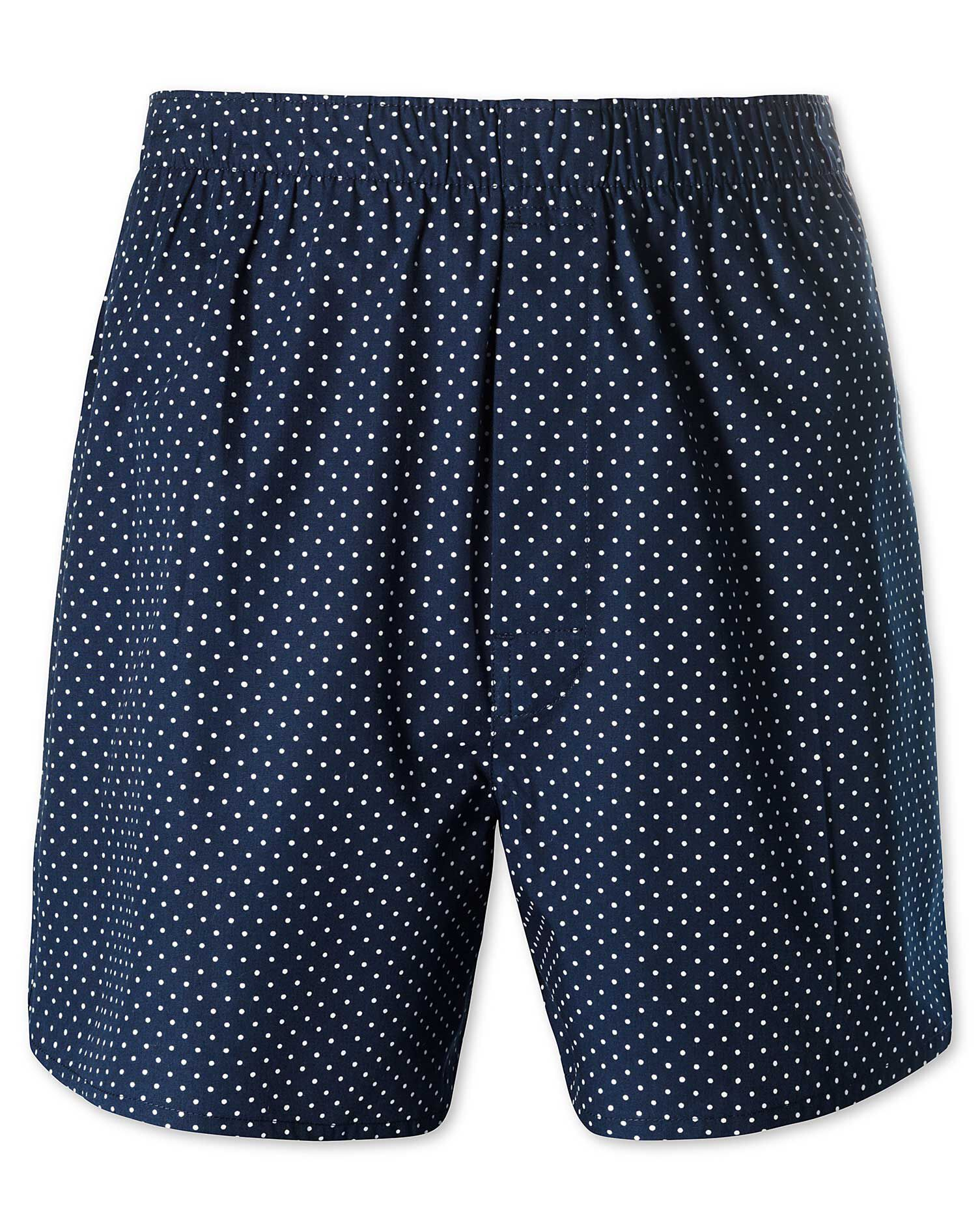 Navy Dot Woven Boxers Size Large by Charles Tyrwhitt