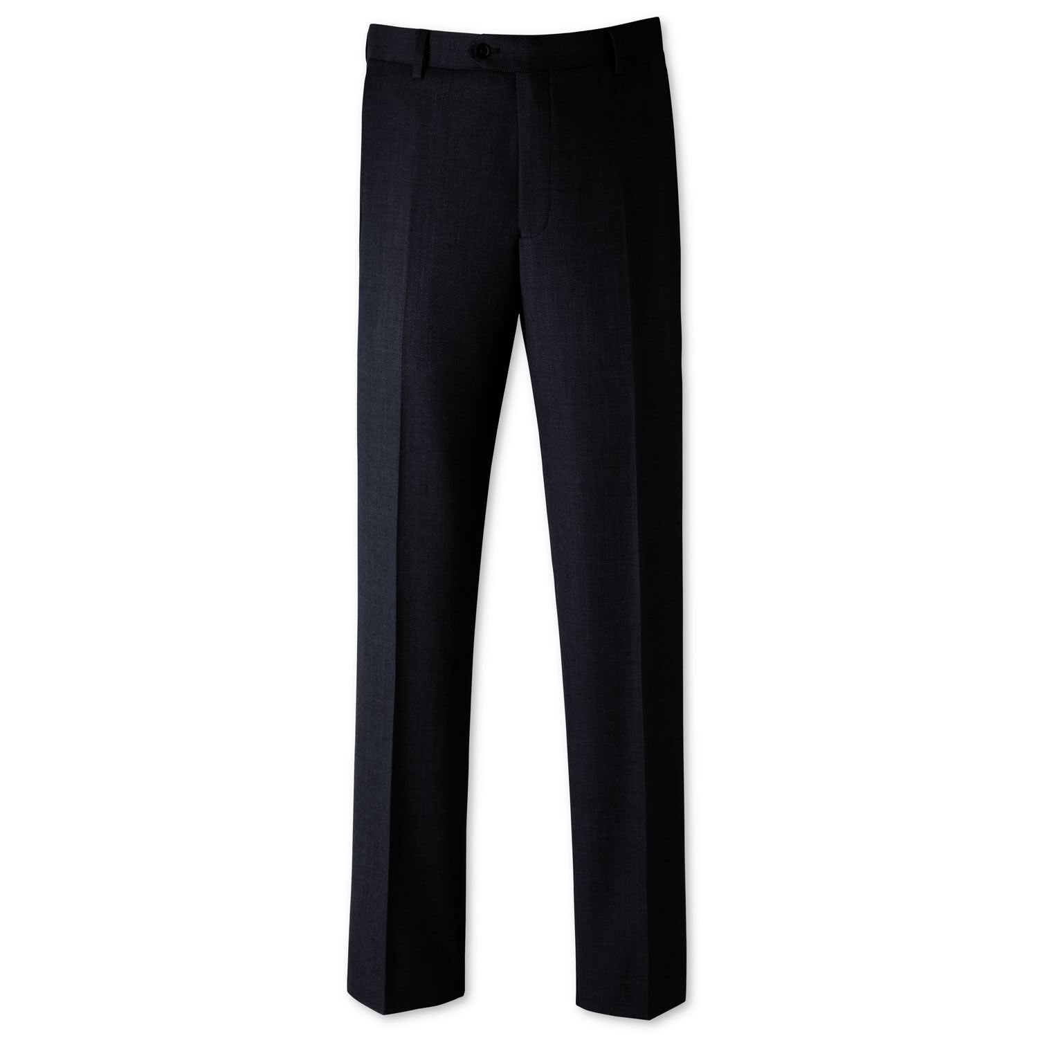Mid Blue Classic Fit Birdseye Business Suit Trousers Size W30 L38 by Charles Tyrwhitt