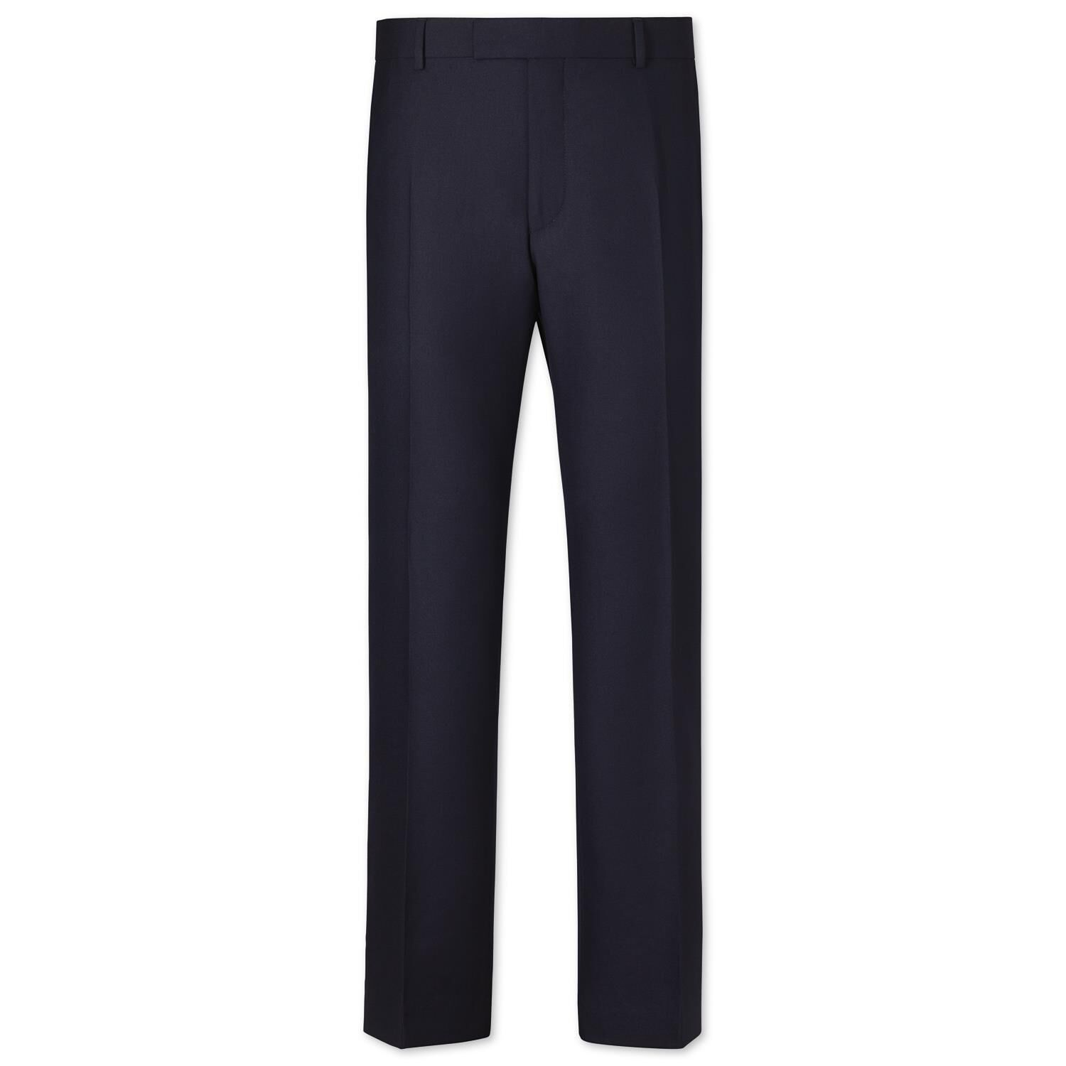 Navy Slim Fit British Hopsack Luxury Suit Trousers Size W38 L38 by Charles Tyrwhitt