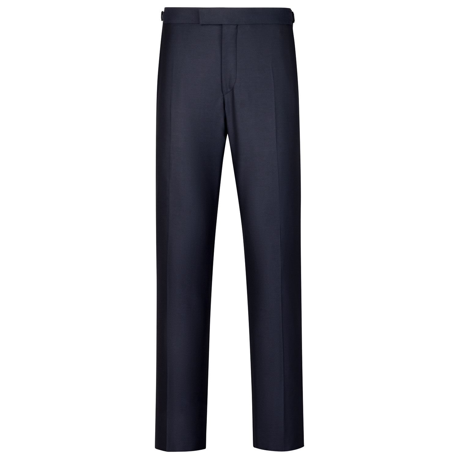 Navy Slim Fit Yorkshire Worsted Luxury Suit Trousers Size W40 L38 by Charles Tyrwhitt