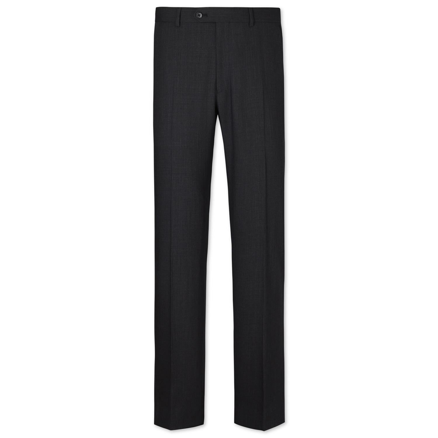Charcoal Slim Fit Crowsfoot Business Suit Trousers Size W36 L30 by Charles Tyrwhitt