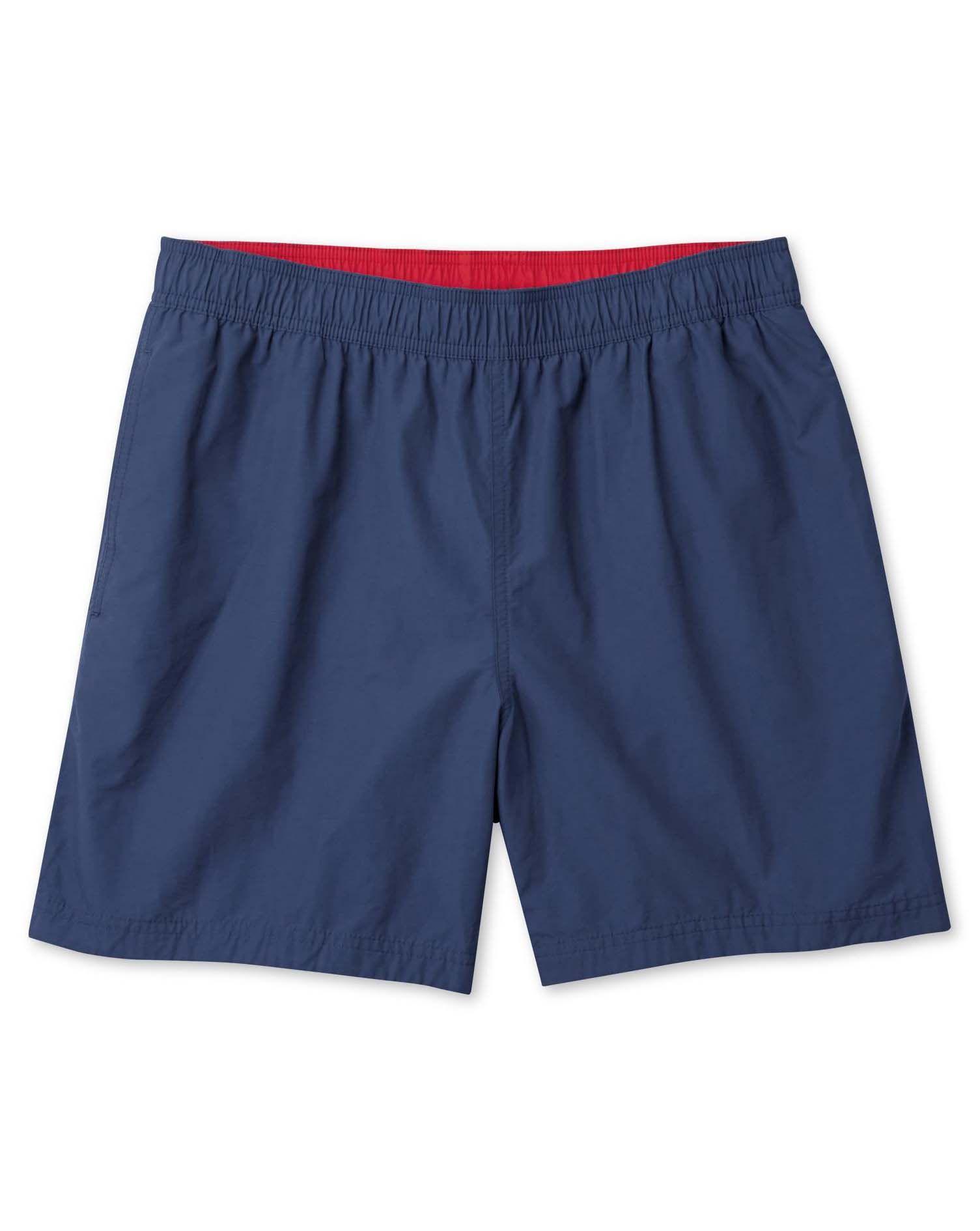 Navy Cotton Swim Shorts Size Small by Charles Tyrwhitt