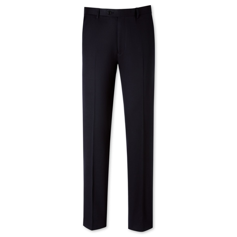 Navy Slim Fit Gabardine Trousers Size W38 L32 by Charles Tyrwhitt