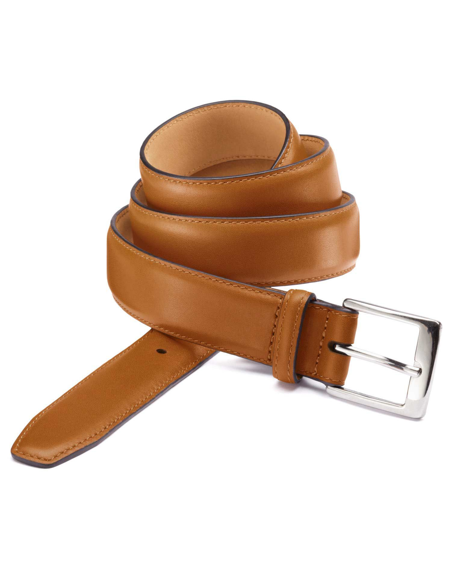 Tan Leather Formal Belt Size 46-48 by Charles Tyrwhitt
