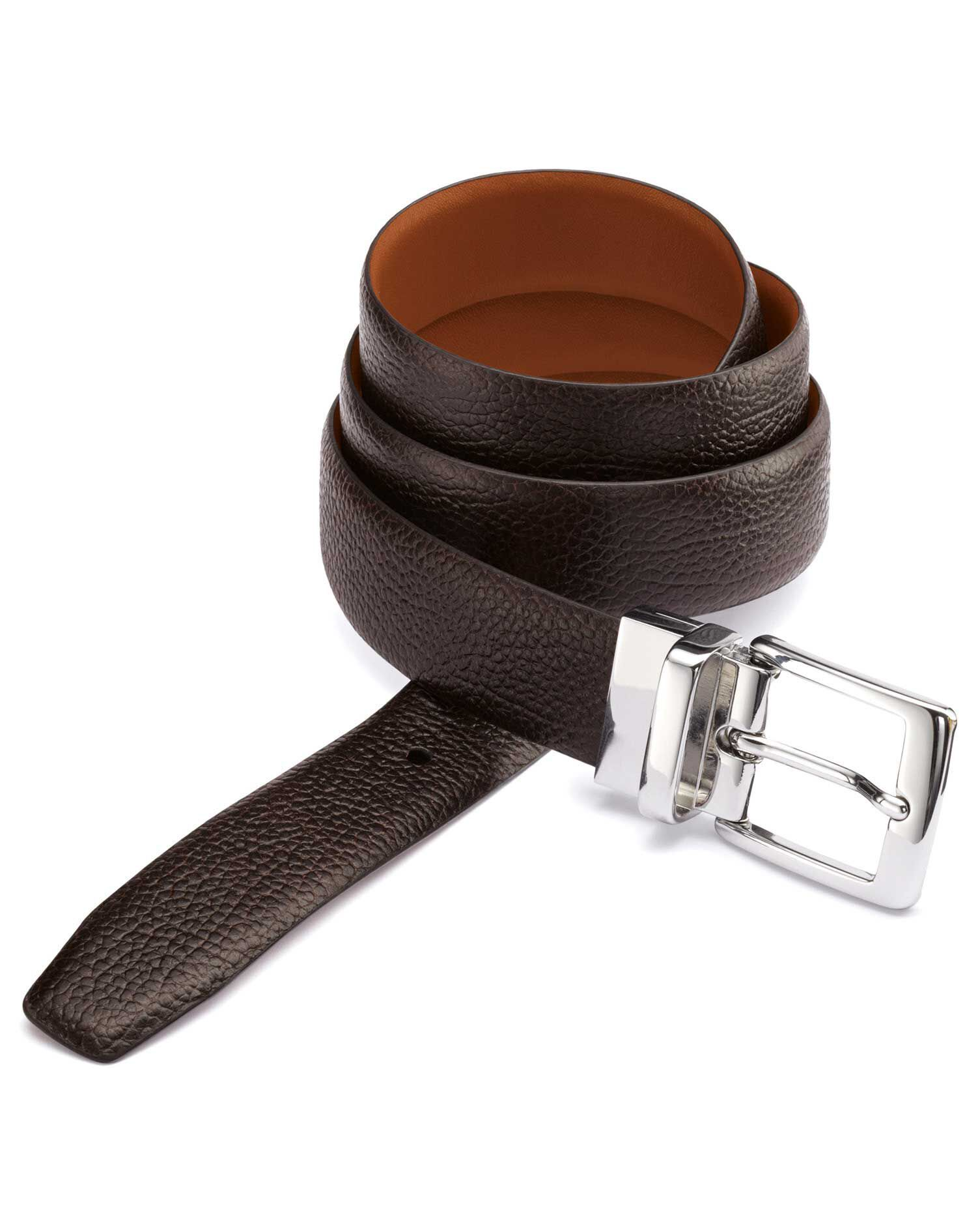 Brown and Tan Reversible Belt Size 34-36 by Charles Tyrwhitt