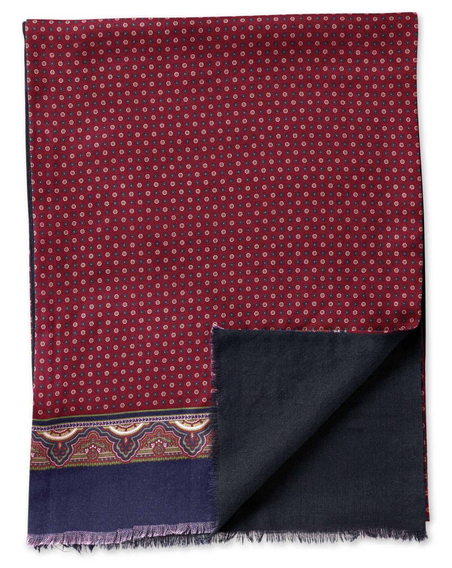 Burgundy Wool Scarf Size OSFA by Charles Tyrwhitt