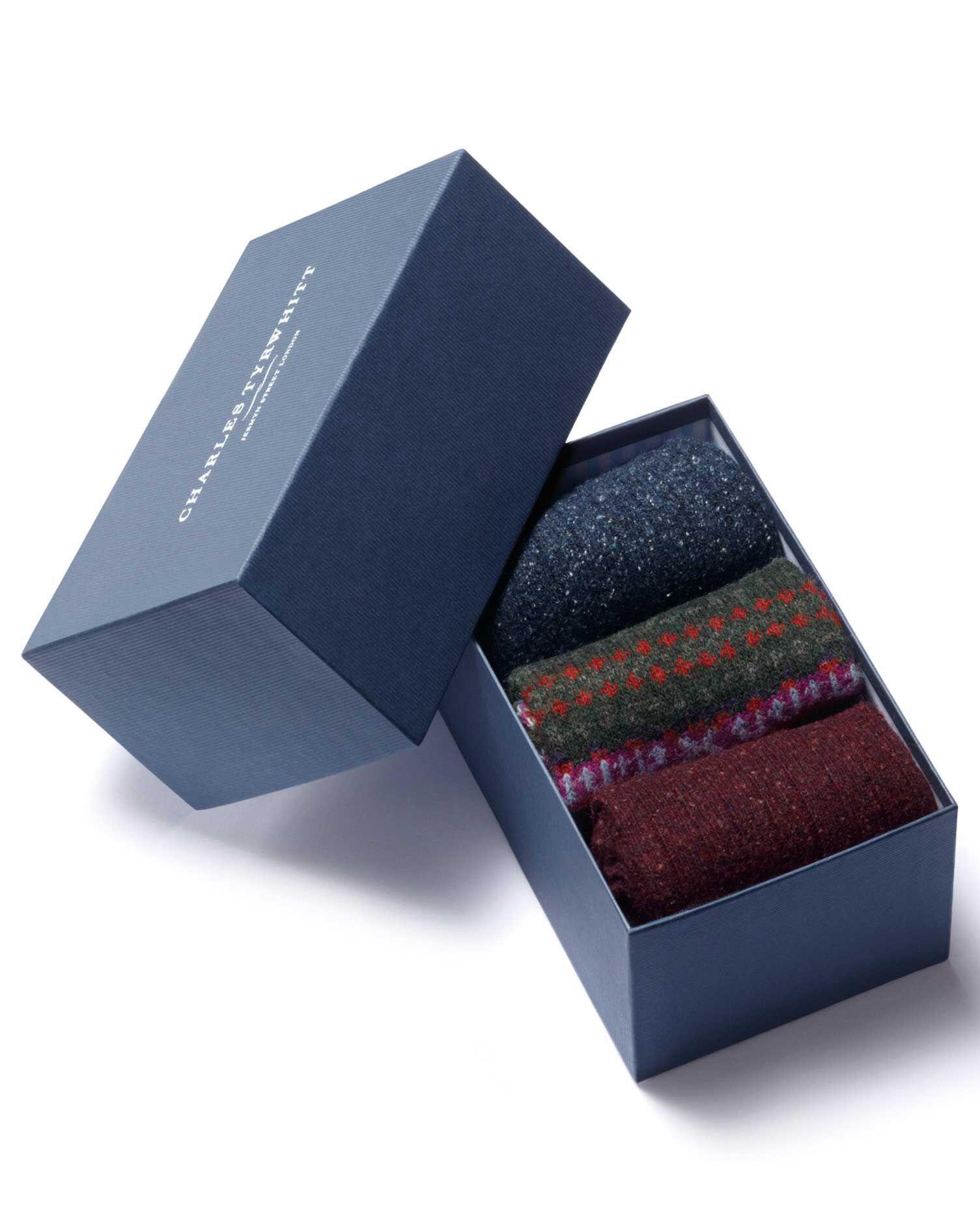 Multi Chunky Sock Gift Box Size Medium by Charles Tyrwhitt