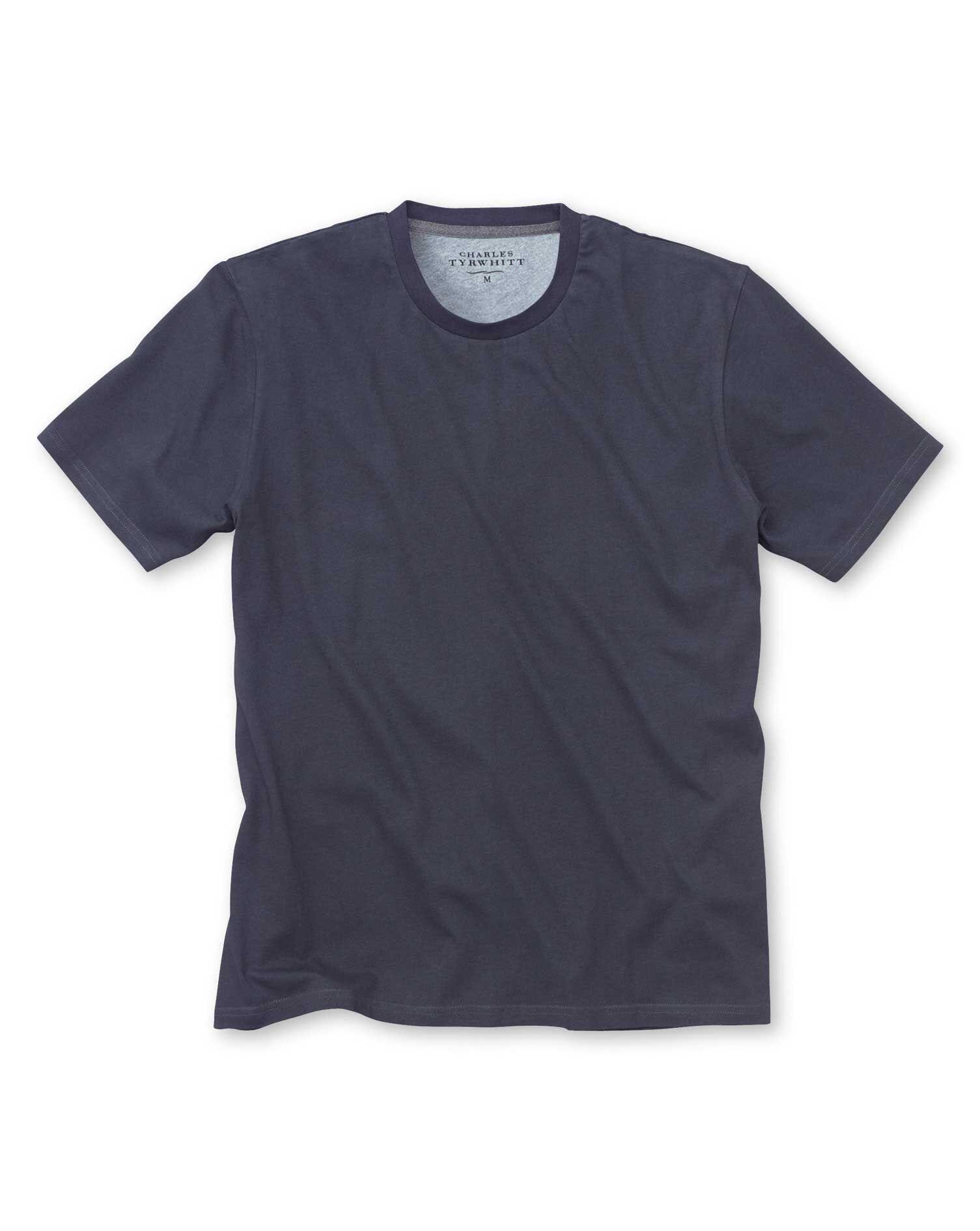 Navy Cotton T-Shirt Size XL by Charles Tyrwhitt