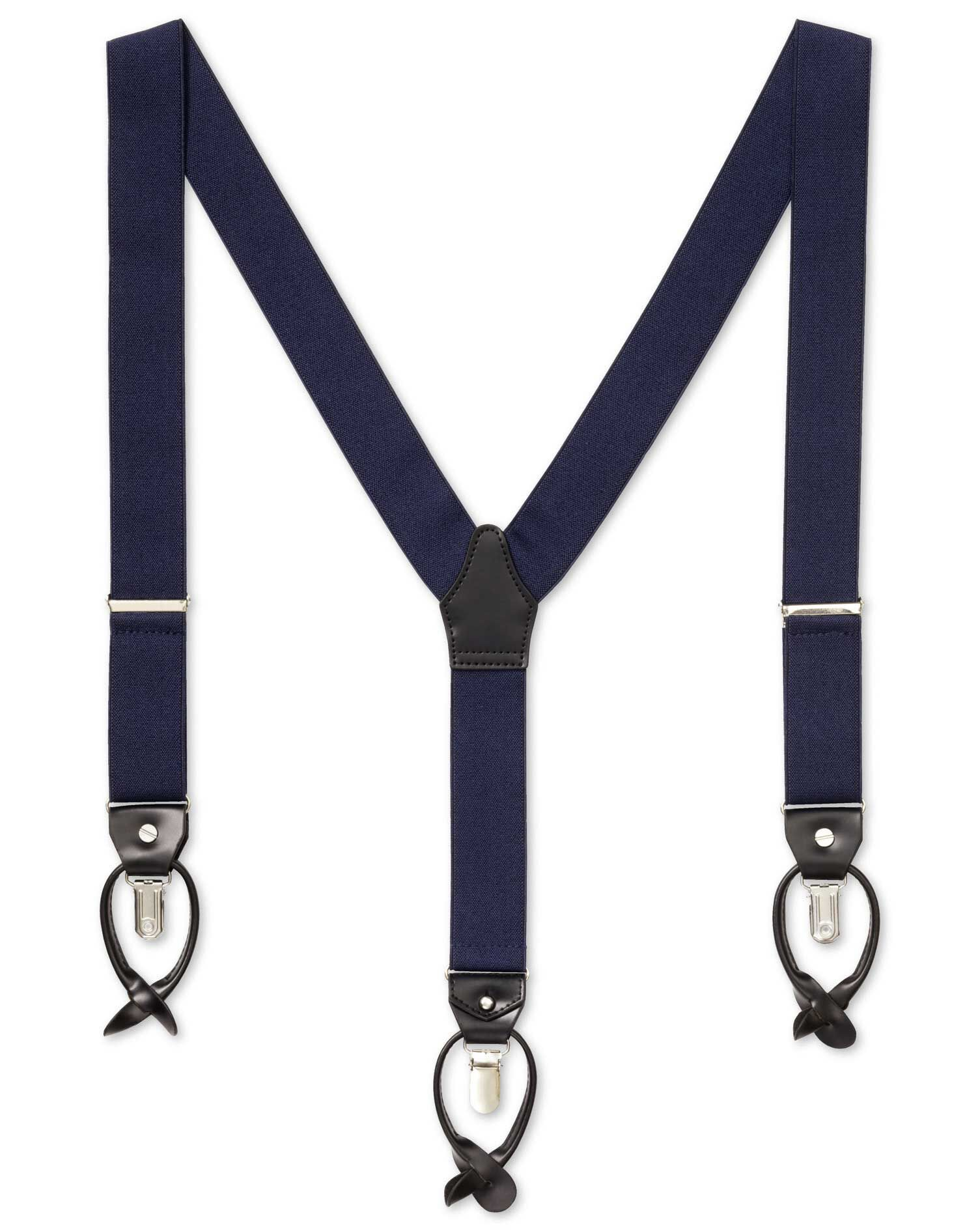 Navy Combination Braces by Charles Tyrwhitt