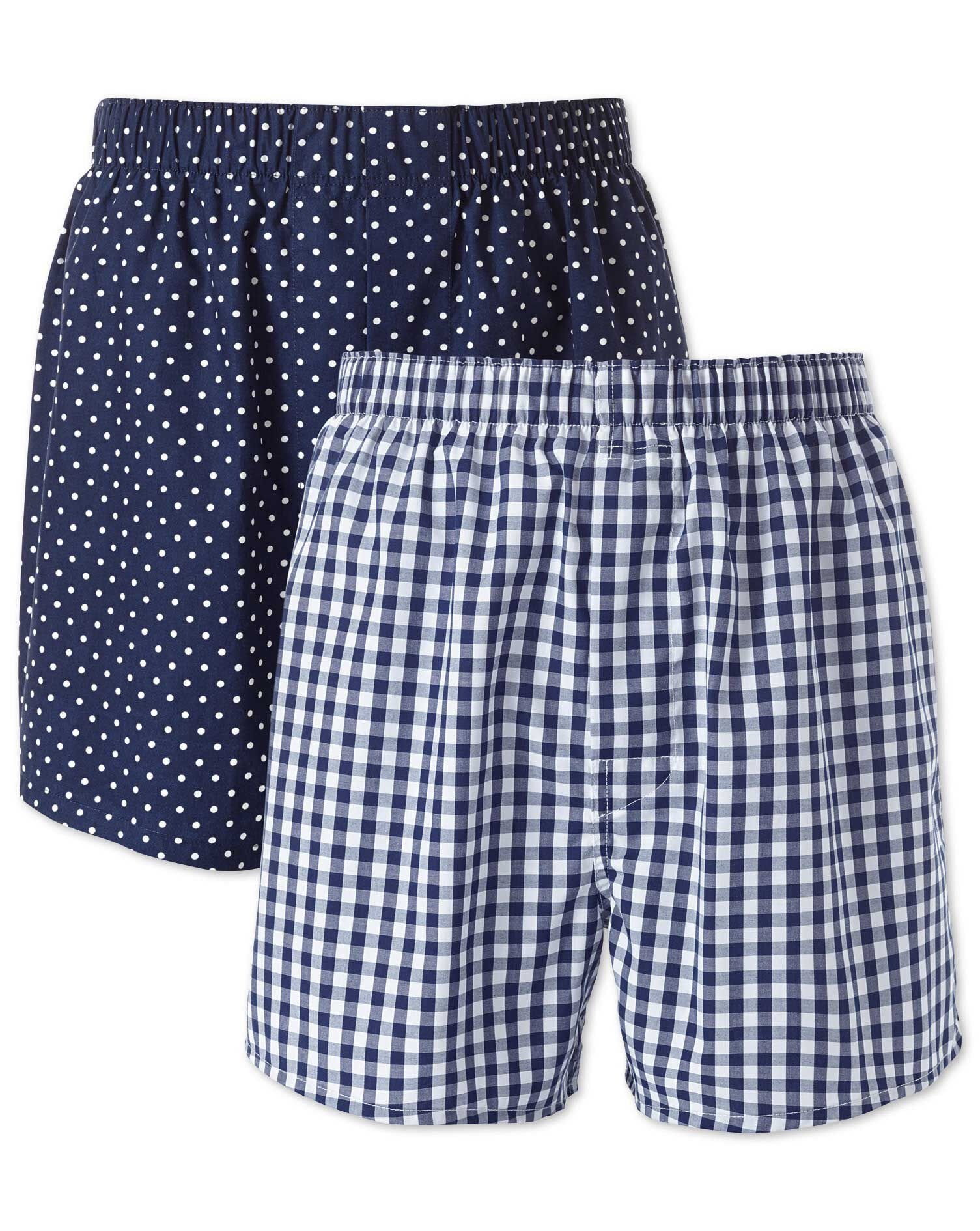 Navy 2 Pack Boxers Size XS by Charles Tyrwhitt