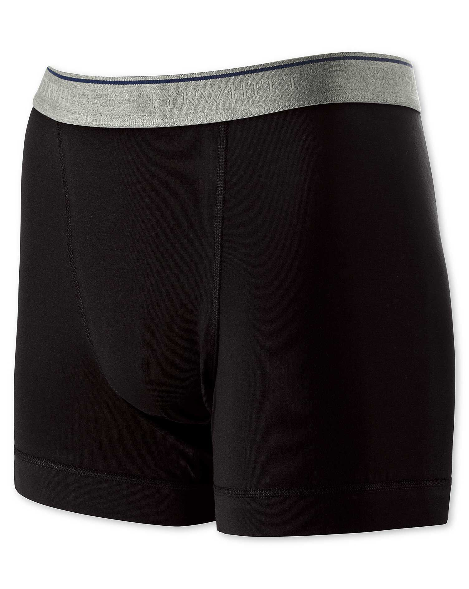 Black Jersey Trunks Size XL by Charles Tyrwhitt