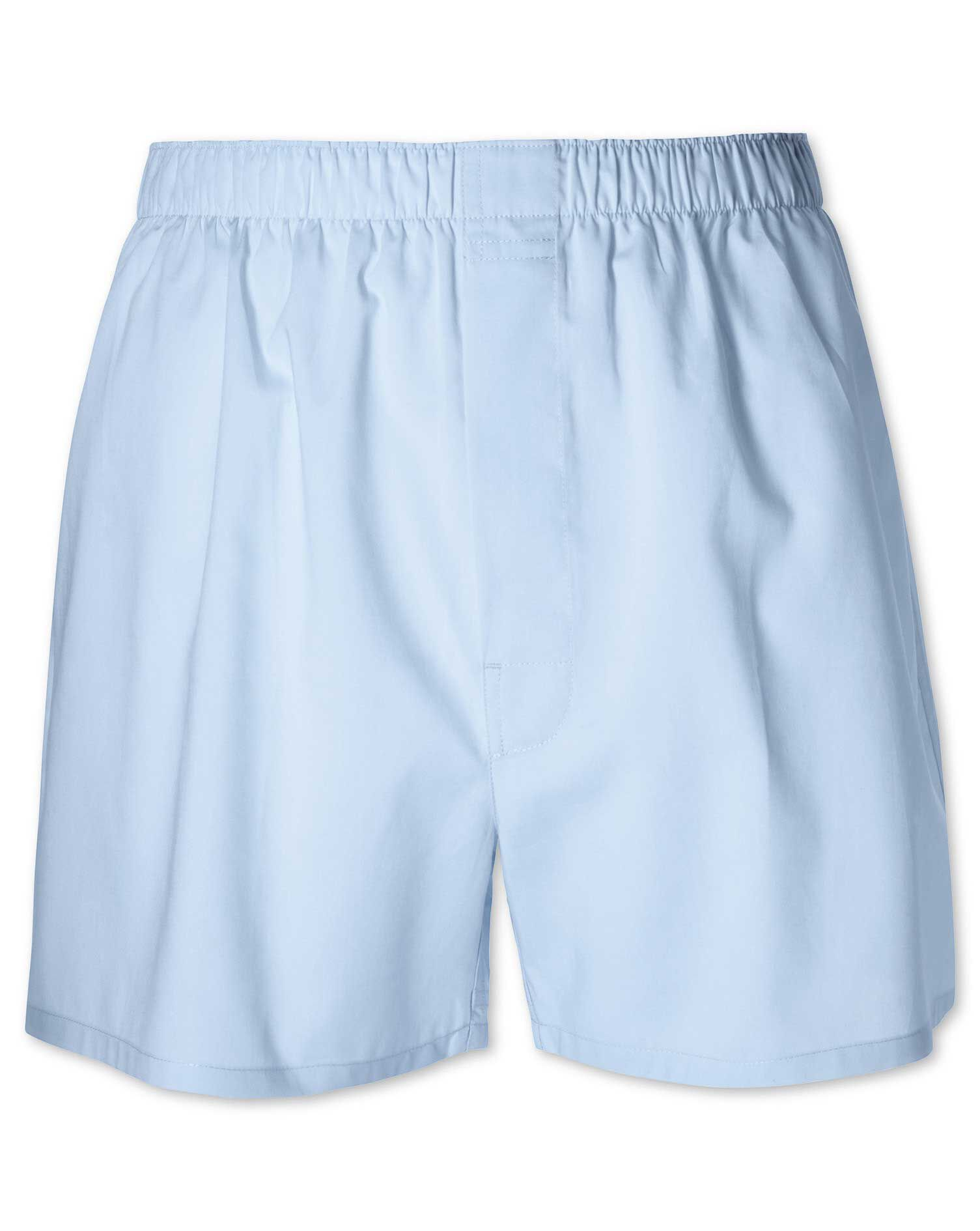 Sky Woven Boxers Size Large by Charles Tyrwhitt