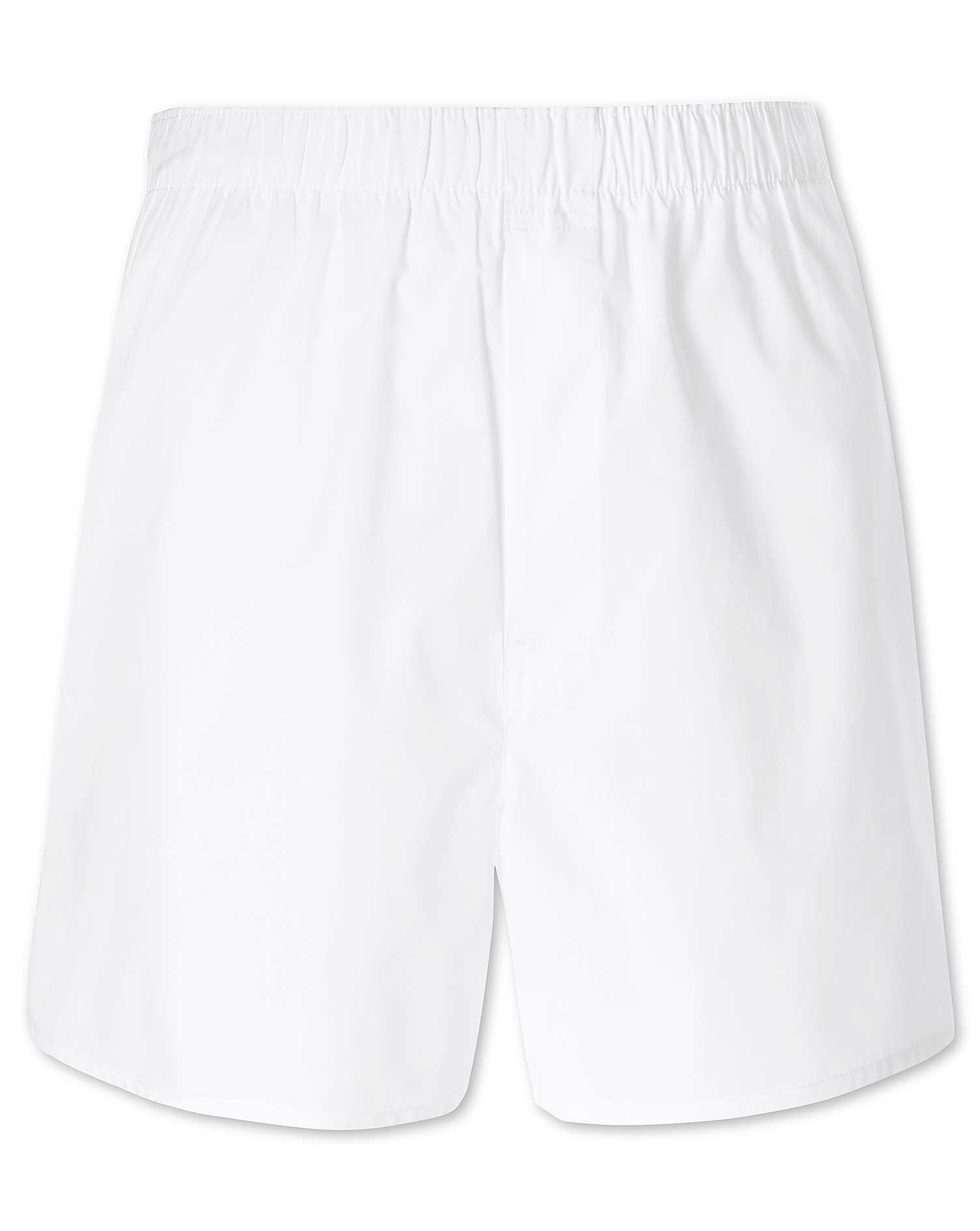 White Woven Boxers Size Small by Charles Tyrwhitt