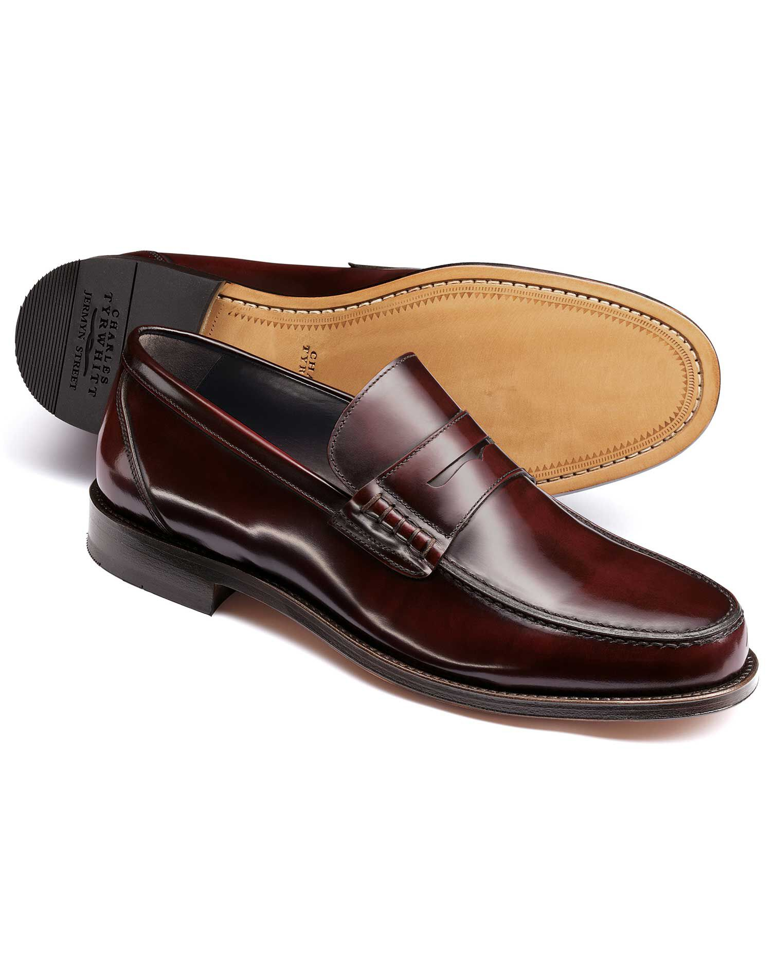 Burgundy Harlyn Loafers Size 6 R by Charles Tyrwhitt