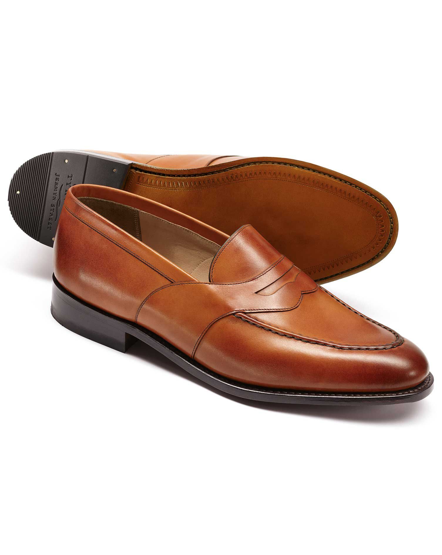 Tan Allet Loafers Size 13 R by Charles Tyrwhitt