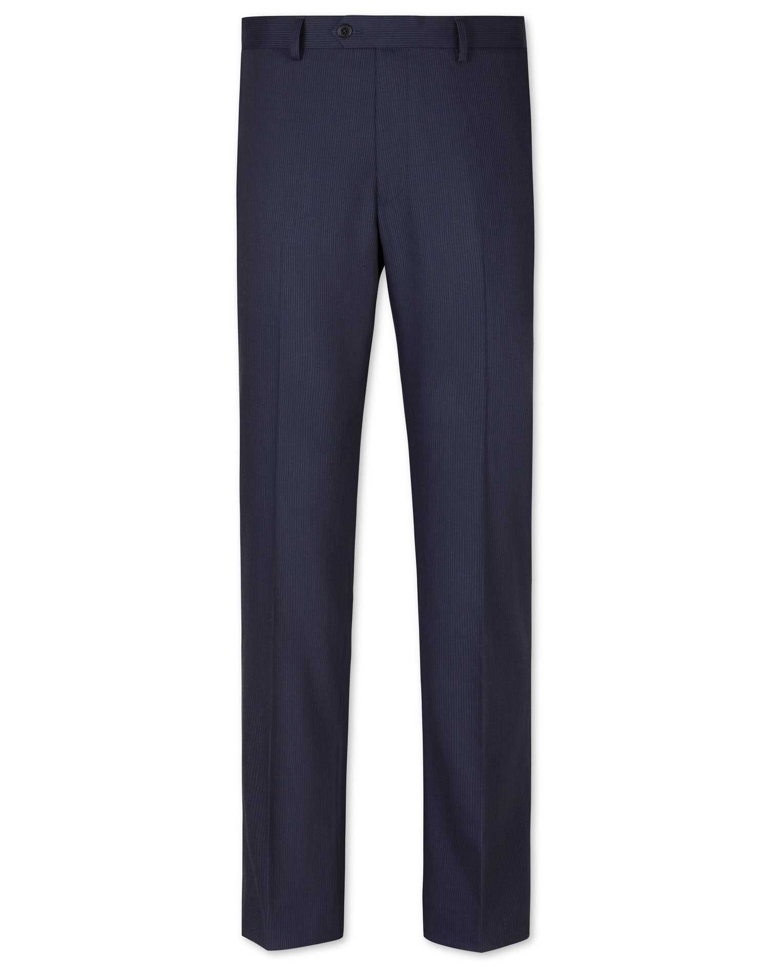 Blue Slim Fit Penwith Slim Stripe Business Suit Trouser Size W36 L30 by Charles Tyrwhitt