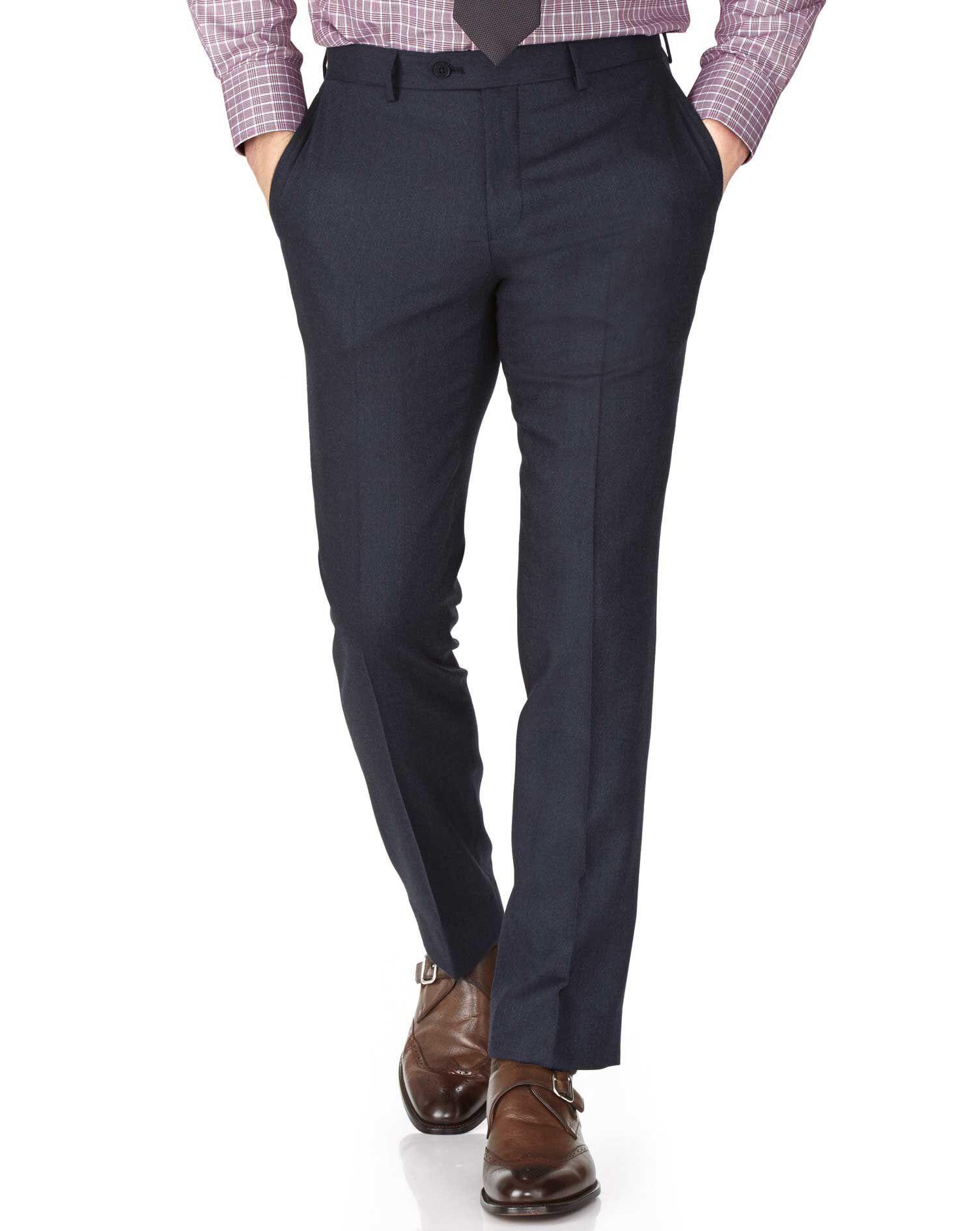 Indigo Slim Fit Saxony Business Suit Trousers Size W30 L38 by Charles Tyrwhitt