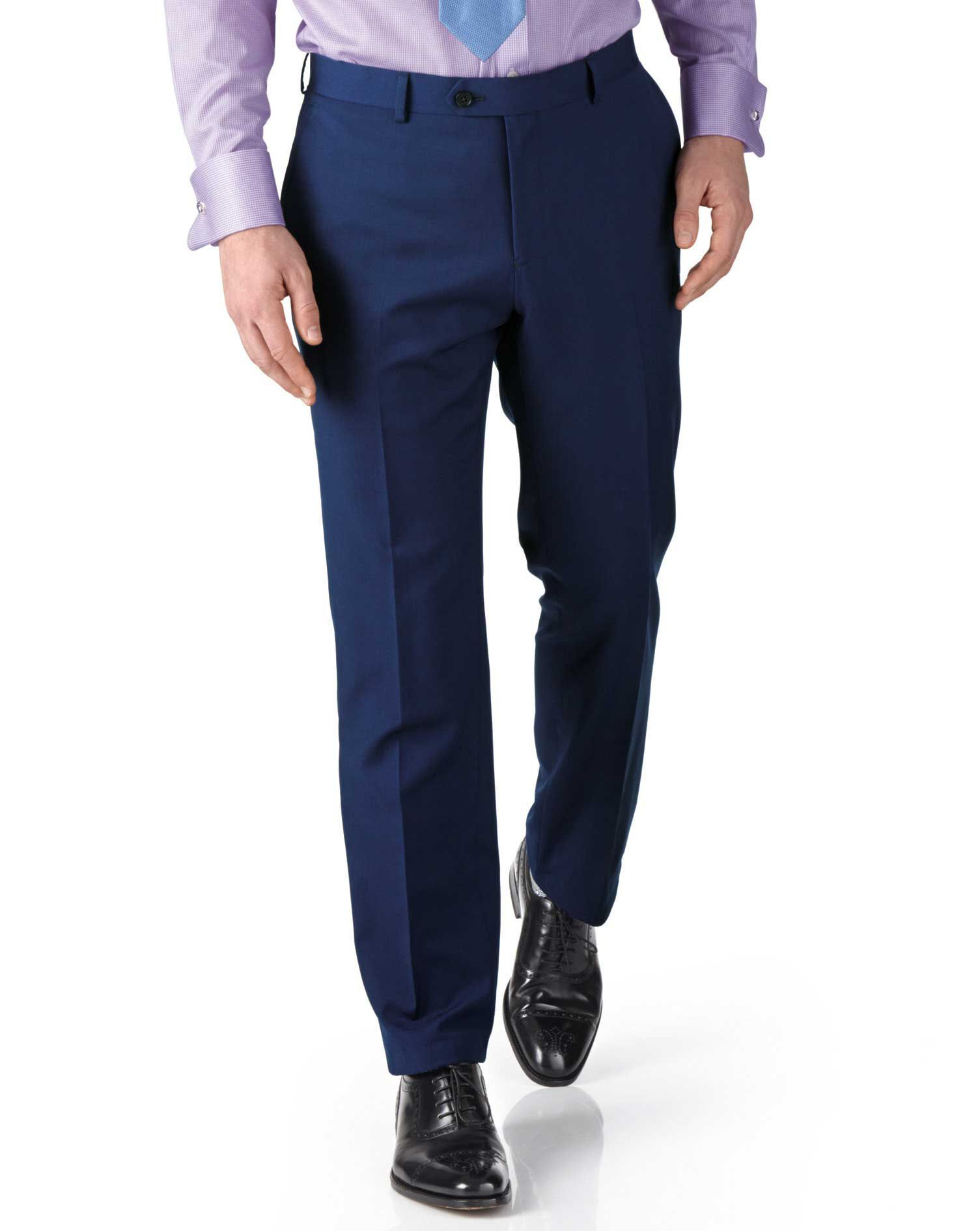 Royal Extra Slim Fit Twill Business Suit Trousers Size W36 L34 by Charles Tyrwhitt
