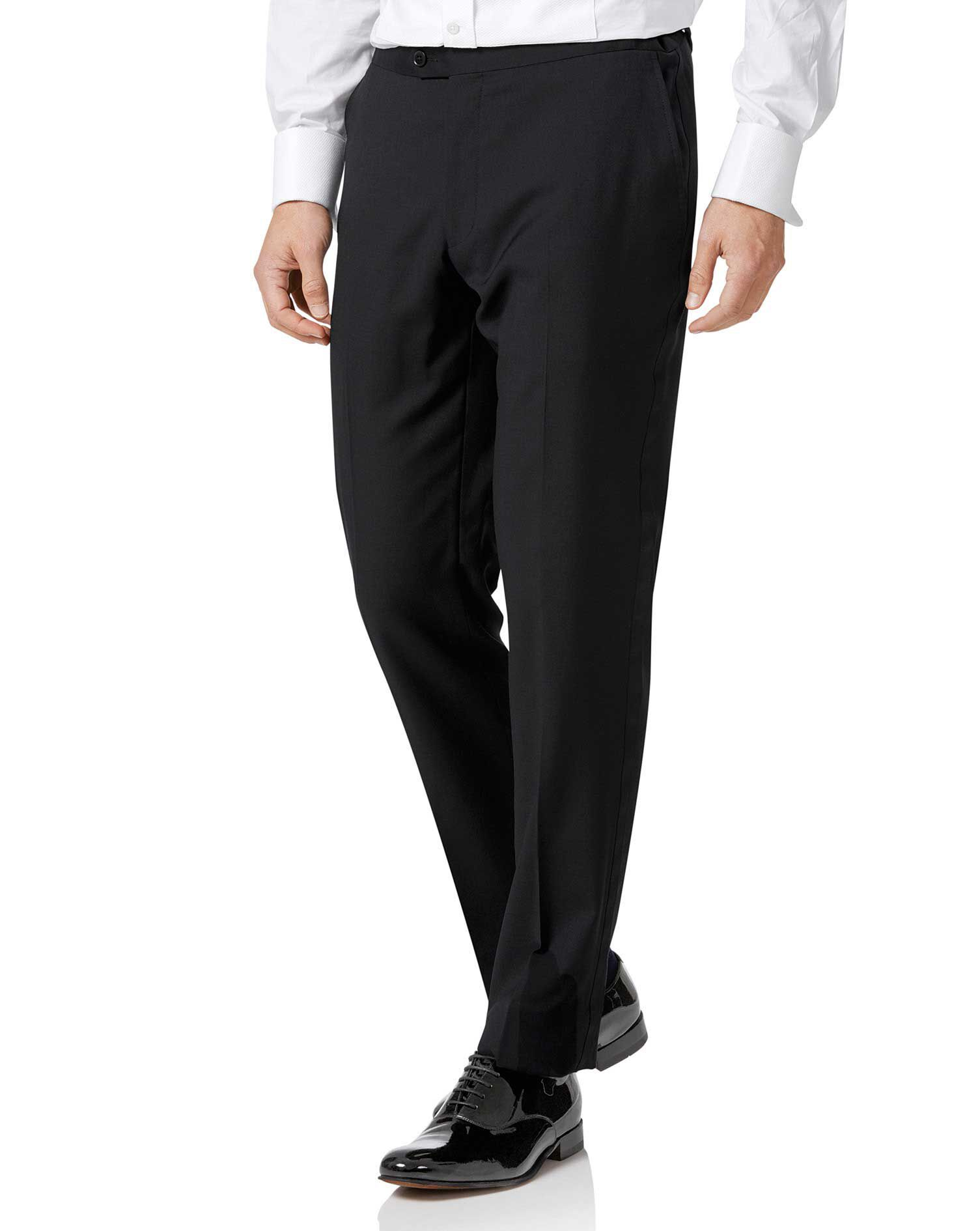 Black Slim Fit Tuxedo Trousers Size W32 L30 by Charles Tyrwhitt