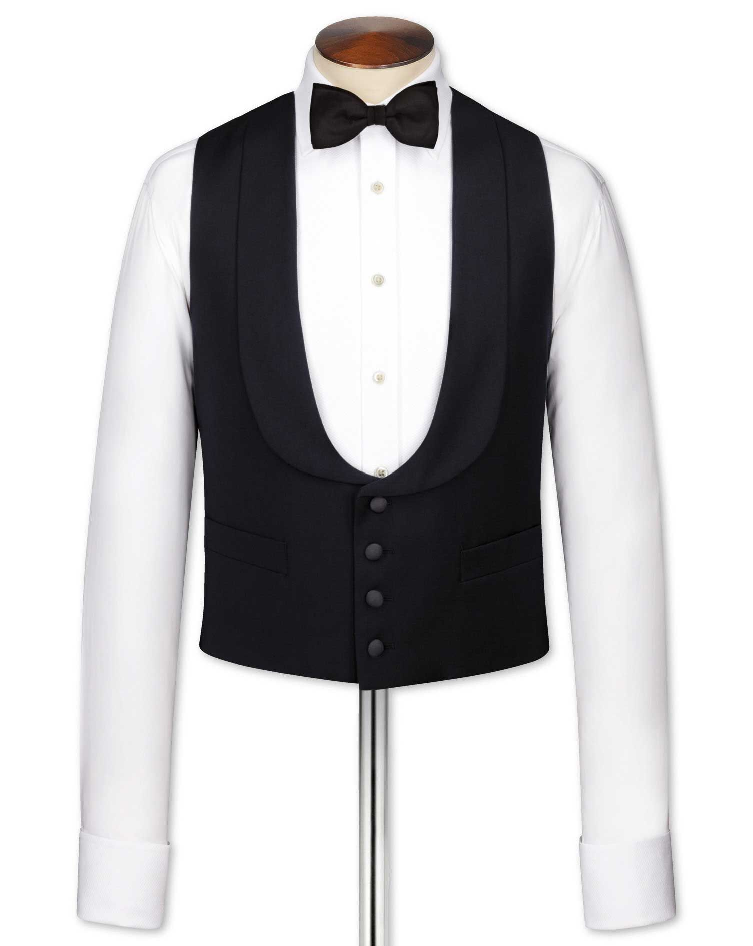 Edwardian Men's Formal Wear Charles Tyrwhitt Black tuxedo waistcoat £70.00 AT vintagedancer.com