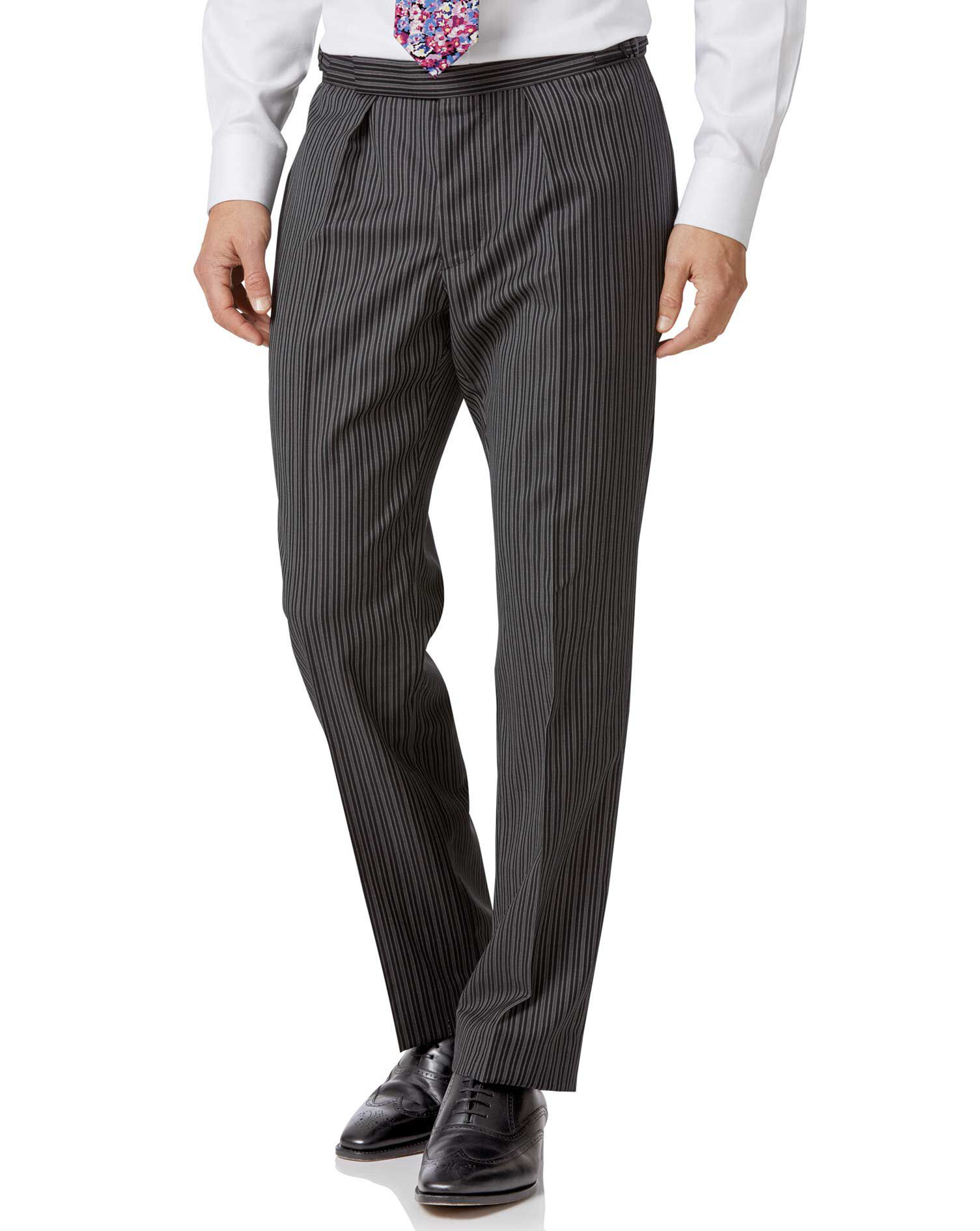 Black Stripe Classic Fit Morning Suit Trousers Size 34/38 by Charles Tyrwhitt