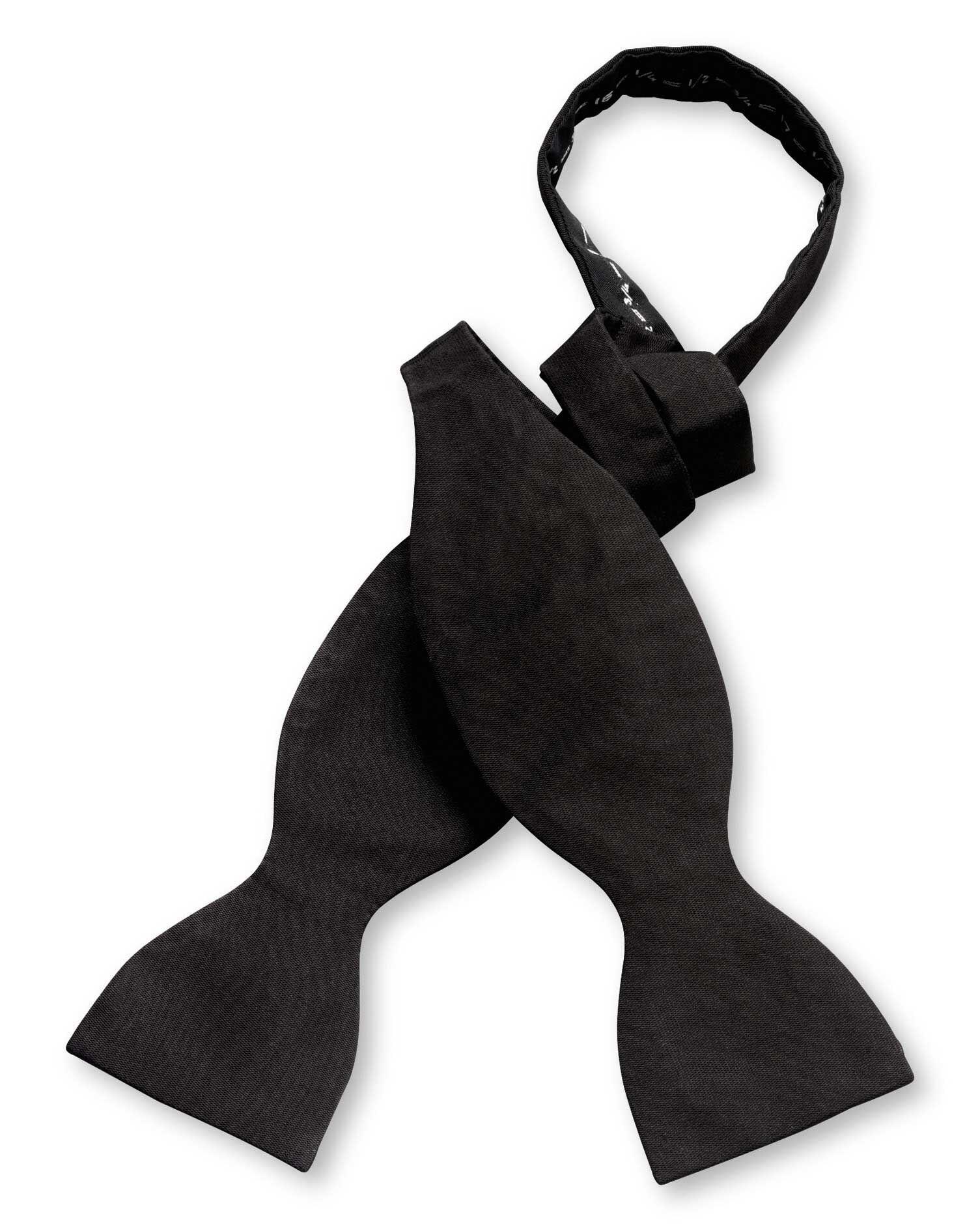 Black Silk Barathea Self-Tie Bow Tie Size OSFA by Charles Tyrwhitt