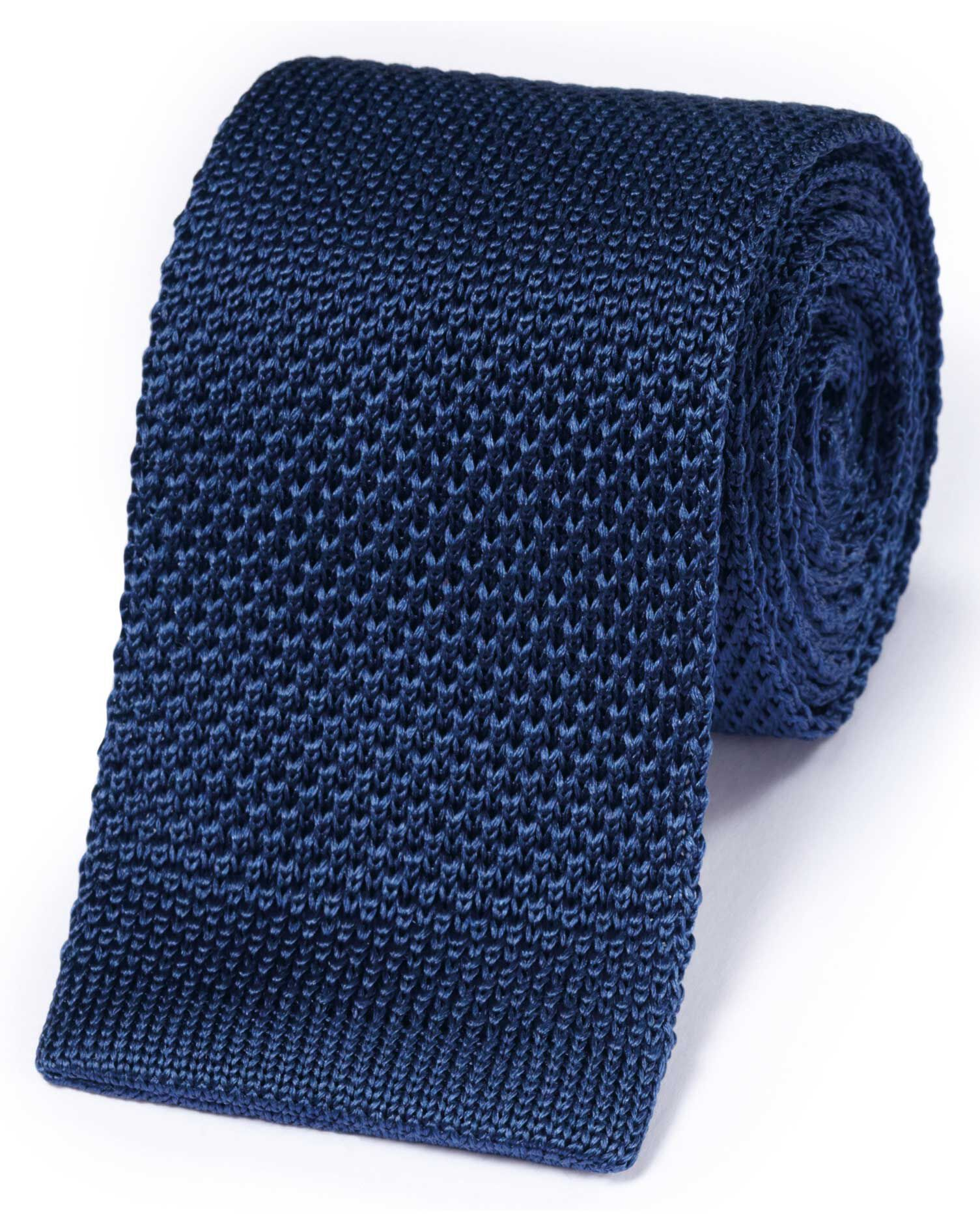 Royal Silk Knitted Classic Tie Size OSFA by Charles Tyrwhitt