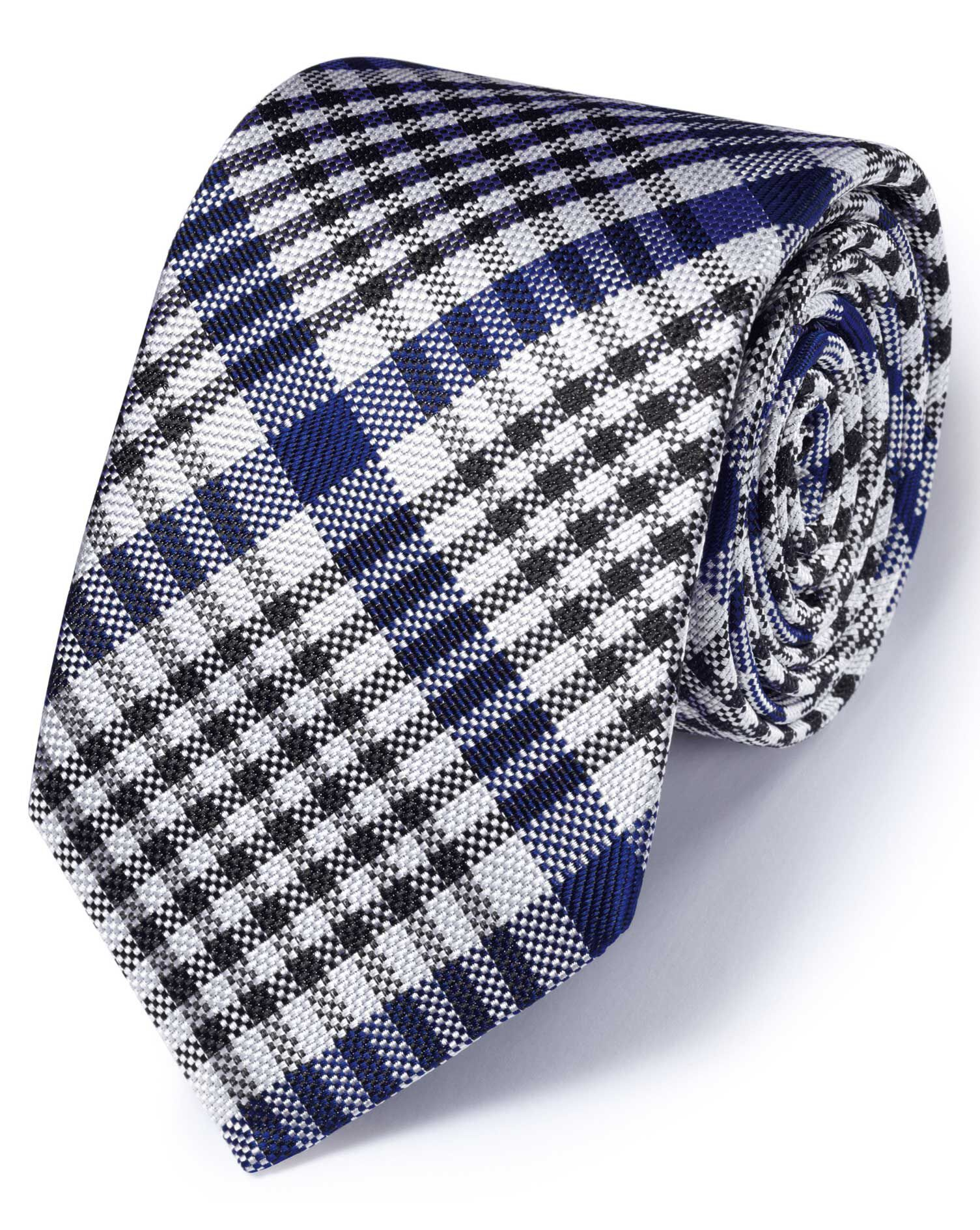 Royal Silk English Luxury End-On-End Checkered Tie Size OSFA by Charles Tyrwhitt