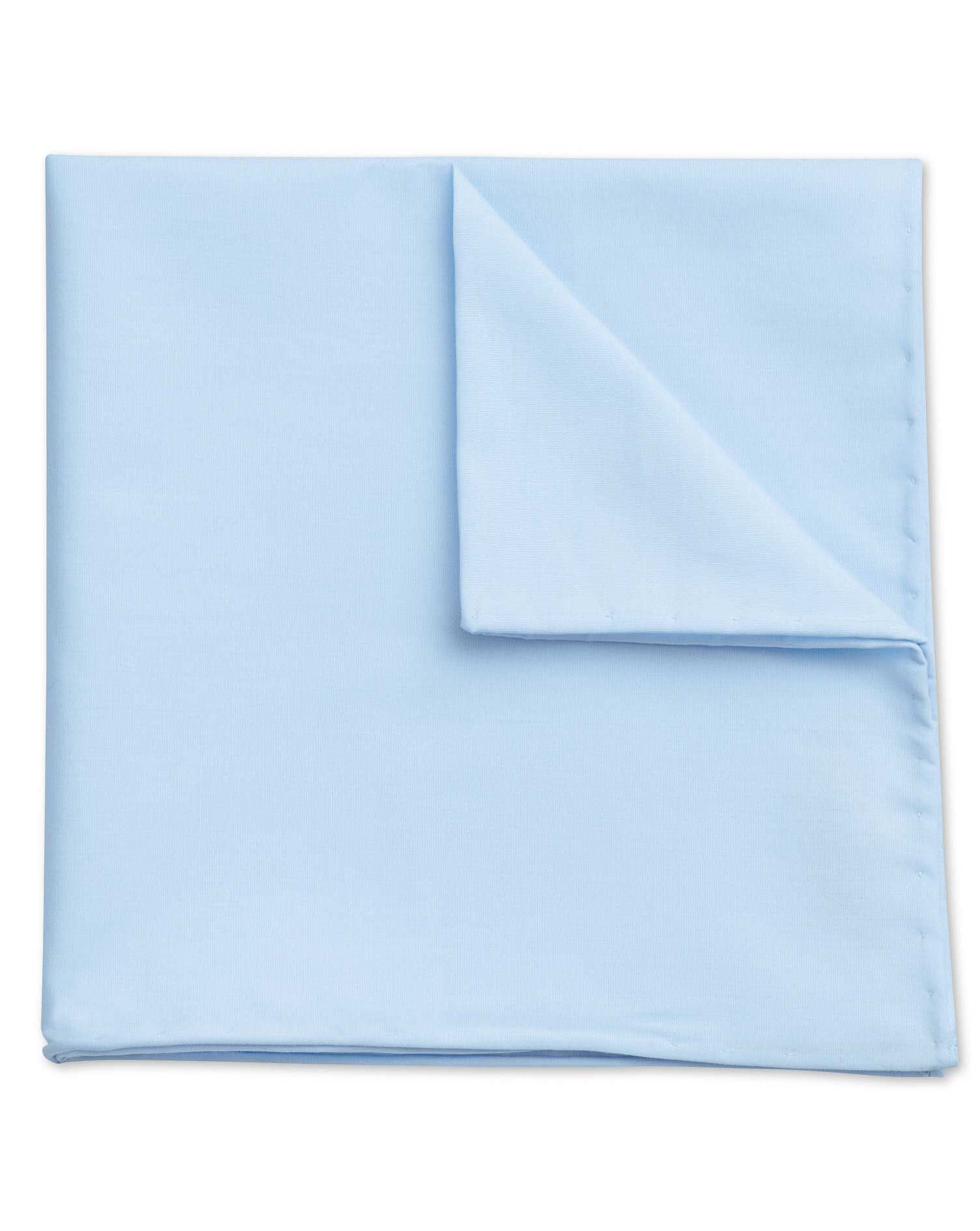 Sky Classic Plain Cotton Pocket Square Size OSFA by Charles Tyrwhitt