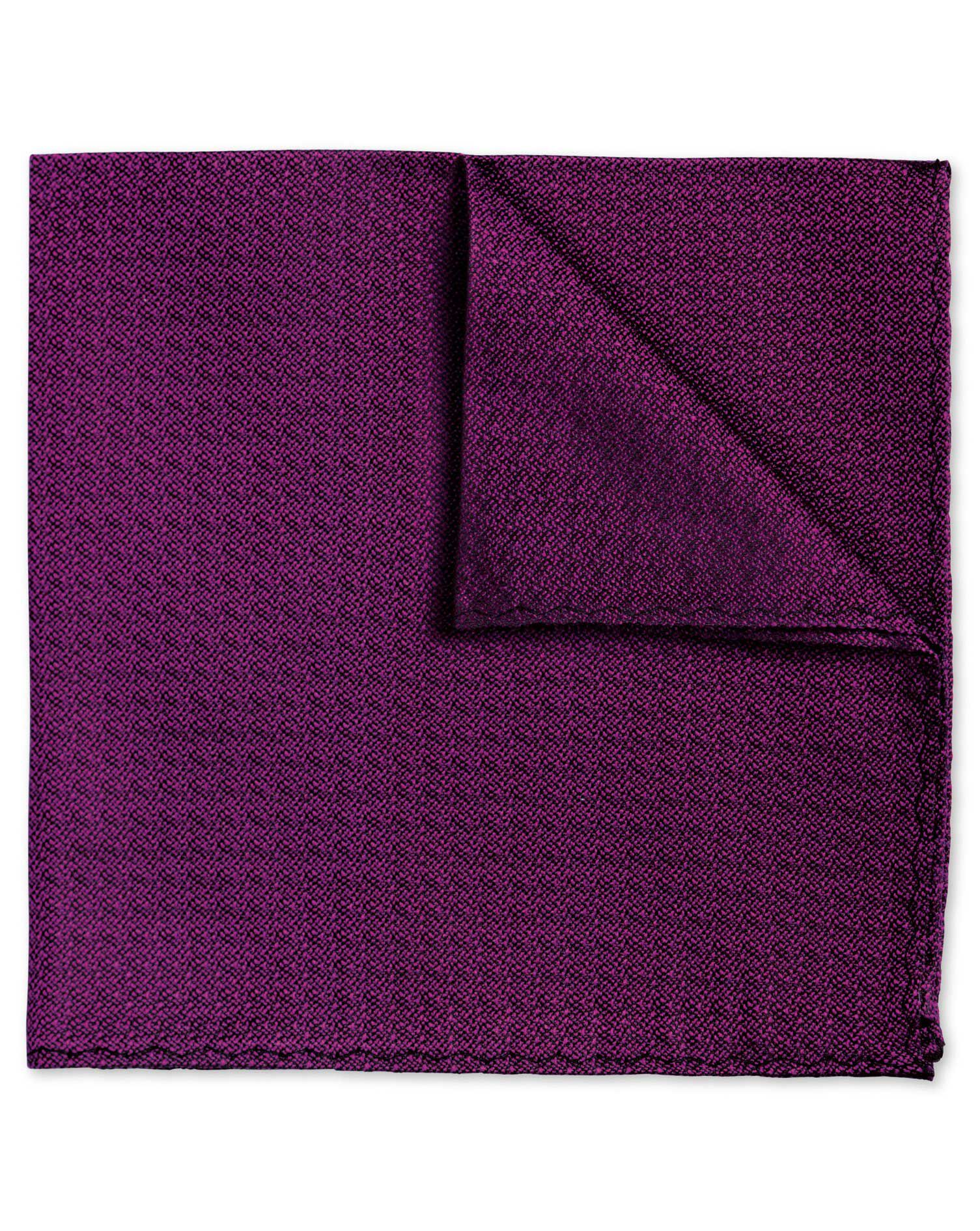 Fuchsia Textured Plain Classic Silk Pocket Square Size OSFA by Charles Tyrwhitt